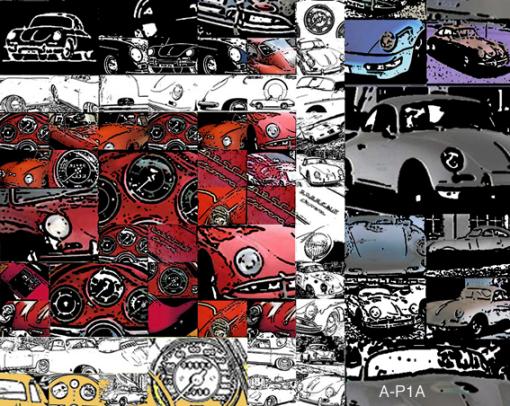 Moderne Porsche-Kunst
